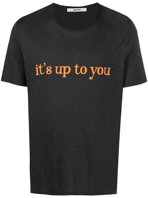 """T-Shirt mit """"It's up to You""""-Print"""