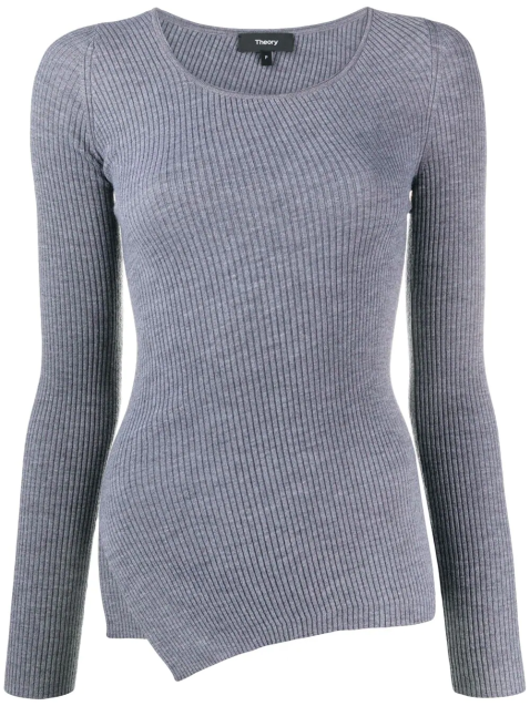 Gerippter Pullover-XS