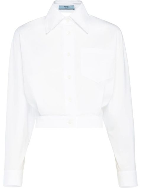 Open-Back Cropped Shirt